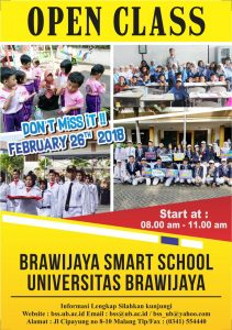 OPEN HOUSE PPDB BRAWIJAYA SMART SCHOOL 2018